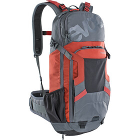 EVOC FR Enduro Protector Zaino 16l, carbon grey/chili red